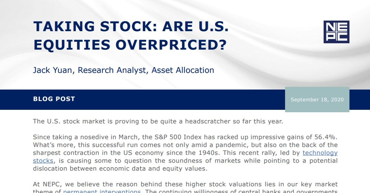 Are Equities Overpriced